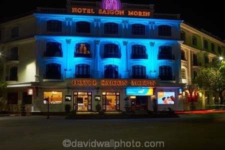 accommodation;blue;dark;dusk;evening;hotel;Hotel-Saigon-Morin;hotels;Hu;Hue;light;lighting;lights;night;night-time;night_time;North-Central-Coast;Tha-Thiên_Hu-Province;Thua-Thien_Hue-Province;tourism;twilight;Vietnam;Vietnamese;Asia