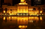 architecture;art-galleries;art-gallery;australasia;Australia;australian;Brisbane;building;buildings;c.b.d.;cbd;central-business-district;City-Hall;colonial;column;columns;facade;facades;floodlighting;floodlit;historic;historical;illuminate;illuminated;Italian-renaissance;King-George-Square;museum;museums;night;night-time;pond;ponds;pool;pools;Queensland;reflect;reflection;reflections;reflects;town-hall;town-halls