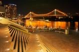 Australasia;Australia;Australian;Brisbane;Brisbane-River;Brisbane-Waterfront;calm;dark;evening;light;lights;night;night-time;night_time;Petrie-Bight;placid;Qld;Queensland;quiet;reflection;reflections;river;rivers;riverside;Riverside-Promenade;serene;smooth;stair;stairs;step;steps;still;Story-Bridge;tranquil;water;waterfront