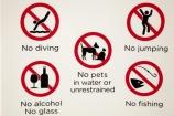 Australasian;Australia;Australian;Darwin;Darwin-Waterfront;Darwin-Waterfront-Precinct;N.T.;no-alcohol;no-fishing;no-glass;no-jumping;no-pets;Northern-Territory;NT;sign;signs;Top-End