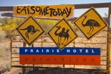 Australasian;Australia;Australian;Australian-Outback;back-country;backcountry;backwoods;camel;camels;emu;emus;Flinders-Ranges;kangaroo;kangaroos;Outback;Outback-Travel;Parachilna;Prairie-Hotel;remote;remoteness;S.A.;SA;Sign;signs;South-Australia;South-Flinders-Ranges