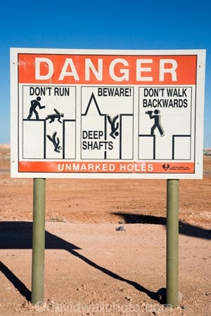 Australasian;Australia;Australian;Australian-Outback;Coober-Pedy;danger-sign;danger-signs;mine;mines;mining;opal-mine;opal-mines;Outback;red-centre;S.A.;SA;sign;signs;South-Australia;warning-sign;warning-signs