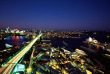 Sydney;Harbour;harbours;harbor;harbors;Bridge;Night;Shangri_La;Hotel;Sydney;Australia;traffic;tail-lights;bridges;light;lights;north-sydney;sydney-cove;cove;circular-quay;circular;quay;opera-house;opera;house;icon;icons;landmark;landmarks