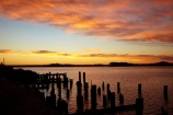 Australasian;Australia;Australian;dock;docks;dusk;evening;Island-of-Tasmania;jetties;jetty;Macquarie-Harbor;Macquarie-Harbour;nightfall;orange;pier;piers;piles;post;posts;quay;quays;sky;State-of-Tasmania;Strahan;Strahan-Harbor;Strahan-Harbour;sunset;sunsets;Tas;Tasmania;The-West;twilight;waterside;West-Tasmania;Western-Tasmania;wharf;wharfes;wharves