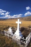 grave;graves;tombstone;tomestones;memorial;remember;cross;white;ironwork;wrought-iron;fence;fenced;alone;isolated;rememberance;goldrush;gold-rush;goldfields;gold-fields