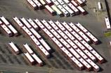 aerial;aerials;bus;bus-park;buses;canterbury;christchurch;new-zealand;park;parking-lot;parking-lots;parks;pattern;public-transport;public-transportation;roof;rooves;south-island;station;transport;transportation;vehicles;white