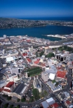 aerial;aerials;dunedin;otago;city;town;urban-sprawl;populated;CBD;central-business-district;main-street;layout;cityscape;octagon;town-hall;moray-place;otago-harbour;pacific-ocean