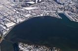 aerial;aerials;coast;cold;Dunedin;foreshore;freezing;harbour-basin;icy;New-Zealand;otago-harbor;otago-harbour;portsmouth-drive;season;seasonal;seasons;shoreline;snow;snowy;south-dunedin;South-Island;winter