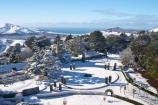 aerial;aerials;building;buildings;castle;castles;cold;Dunedin;fountain;fountains;freezing;historic;historical;history;hooper-inlet;hoopers-inlet;hoopers-inlet;Larnach-Castle;larnachs-castle;larnachs-castle;manor;mount-charles;mt-charles;mt.-charles;New-Zealand;old;otago-peninslar;Otago-Peninsula;pacific-ocean;pond;ponds;sea;season;seasonal;seasons;snow;snowy;South-Island;white;winter