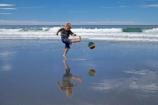 ball;balls;beach;beaches;boy;boys;brother;brothers;calm;child;children;coast;coastal;coastline;coastlines;coasts;Dunedin;football;game;games;kick;kicking;kicks;kid;kids;Kuri-Bush;little-boy;little-boys;N.Z.;New-Zealand;NZ;ocean;oceans;Otago;Pacific-Ocean;placid;play;playing;quiet;reflection;reflections;S.I;sand;sandy;sea;seas;serene;shore;shoreline;shorelines;shores;SI;smooth;soccer;South-Is.;South-island;sport;sports;still;surf;tranquil;water;wave;waves