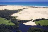 aerial;aerials;beach;beaches;dune;dunes;far-north;Kauaeparaoa-Stream;Lake-Ngakeketa;new-zealand;Ninety-Mile-Beach;north-is.;north-island;northland;ocean;sand;sand-dune;sand-dunes;sand_dune;sand_dunes;sea;tasman-sea;Te-Paki-Stream;water;waterside;waves