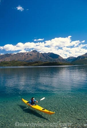 kayak;kayaks;kayaker;kayakers;water;clear;clean;transparent;paddle;paddler;paddlers;paddling;paradise;beautiful;lakes;lake;adventure;adventure-tourism;recreation;outdoors;outdoor;outside;relax;relaxing;yellow;boat;pristine;summer;holiday;holidays;vacation;vacations;glenorchy;queenstown;south-island;new-zealand
