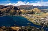 Frankton;Central-Otago;Lake-Wakatipu;Wakatipu;lake;Kawarau-River;Kawarau;river;township;hill;hills;mountain;mountains;water;blue;green;grassy