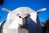 corrugated-iron;corrugated-iron-art;art;sculpture;sheep_shape;information-centre;information;centre;tourism;attraction