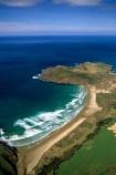 New-Zealand;coast;coastal;coastline;shore;shoreline;beach;beaches;sand;sandy;waves;aerials;wave;sea;ocean;Pacific;bay;colour;color;farmland;rural;marine;rugged;Southern-Scenic-Route