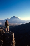cloud;cone;crater;craters;environment;figure;fog;man;mist;misty;mountain;mystery;nature;peak;peaks;person;photographer;slope;slopes;snow;spectator;sunrise;volcanic;volcano