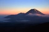cloud;cone;crater;craters;dawn;fog;mist;misty;mountain;mystery;peak;peaks;snow;sunrise;volcanic;volcano