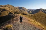 Central-Otago;high-country;highcountry;highland;highlands;Lindis-Pass;mountain;mountains;N.Z.;New-Zealand;North-Otago;NZ;Otago;people;person;photographer;photographers;range;ranges;ridge;ridgeline;ridgelines;ridges;SI;snow-tussock;snow-tussocks;South-Island;tussock;tussock-land;tussock-lands;tussockland;tussocklands;tussocks;uplands