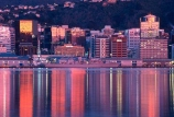 nz;capital;cbd;central-business-district;harbor;harbors;harbour;harbours;n.z;n.z.;new-zealand;office;offices;port;reflection;skyline;skyscrapers;sunrise;water;waterfront;wharf;wharves