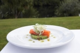 cafe;cafes;cuisine;culinary;dine;dining;eat;eating;entrees;fish;food;gourmet;Lake-Moeraki-Wilderness-Lodge;meal;N.Z.;New-Zealand;nutrition;NZ;restaurant;restaurants;S.I.;salmon;Salmon-Entree;seafood;SI;South-Island;starter;West-Coast;Westland;Wilderness-Lodge-Lake-Moeraki