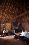 hut;flax;weave;weaving;man;men;person;people