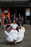 cancers;capital-cities;capital-city;Capital-of-Chile;Chile;dancer;dancing;female;Latin-America;plaza;Plaza-de-Armas;plazas;Santiago;Santiago-de-Chile;South-America;square;squares;Sth-America;The-Americas;traditional-dance;traditional-dancer;traditional-dancers;woman