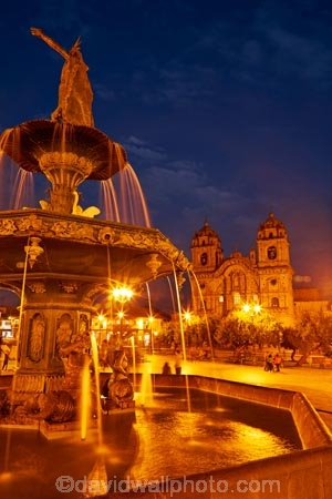 basilica;basilicas;building;buildings;catedral;cathedral;cathedrals;christian;christianity;church;Church-of-the-Society-of-Jesus;churches;Cusco;Cuzco;dark;dusk;evening;faith;fountain;fountains;golden-statue;heritage;historic;historic-building;historic-buildings;historical;historical-building;historical-buildings;history;Iglesia-de-la-Compania;Iglesia-De-La-Compania-De-Jesus;Iglesia-de-la-Compañía;Iglesia-de-la-Compañía-de-Jesús;Inca-fountain;Inca-King;Inca-statue;Inca-statues;Jesuit-church;Jesuit-churches;Latin-America;light;lighting;lights;Manco-Capac-Fountain;Manco-Capec-statue;night;night-time;night_time;Ninth-Inca;old;Pachacutec;Pachacuti;Parade-Square;people;Peru;place-of-worship;places-of-worship;plaza;Plaza-de-Armas;Plaza-Mayor;Plaza-Mayor-del-Cusco;Plaza-Mayor-del-Cuzco;plazas;religion;religions;religious;Republic-of-Peru;South-America;Square-of-the-Warrior;statue;statues;Sth-America;tourism;tourist;tourists;tradition;traditional;travel;twilight;UN-world-heritage-area;UN-world-heritage-site;UNESCO-World-Heritage-area;UNESCO-World-Heritage-Site;united-nations-world-heritage-area;united-nations-world-heritage-site;water;water-feature;water-features;Weapons-Square;world-heritage;world-heritage-area;world-heritage-areas;World-Heritage-Park;World-Heritage-site;World-Heritage-Sites