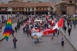 Peruvian;Peruvians;crowd;crowds;Cusco;Cuzco;flag;Flag-of-Peru;flags;historic-building;historic-buildings;historical-building;historical-buildings;Inca;Inca-flag;Inca-Wiphala-Flag;Inka;Inka-flag;Latin-America;old;Parade-Square;people;person;Peru;Peru-flag;Peru-flags;Peruvian-flag;place-of-worship;places-of-worship;plaza;Plaza-de-Armas;Plaza-Mayor;Plaza-Mayor-del-Cusco;Plaza-Mayor-del-Cuzco;plazas;political-protest;political-protesters;protest;protester;protesters;protests;rainbow-flag;rainbow-flags;Republic-of-Peru;South-America;Square-of-the-Warrior;Sth-America;tradition;traditional;UN-world-heritage-area;UN-world-heritage-site;UNESCO-World-Heritage-area;UNESCO-World-Heritage-Site;united-nations-world-heritage-area;united-nations-world-heritage-site;Weapons-Square;Wiphala-Flag;world-heritage;world-heritage-area;world-heritage-areas;World-Heritage-Park;World-Heritage-site;World-Heritage-Sites