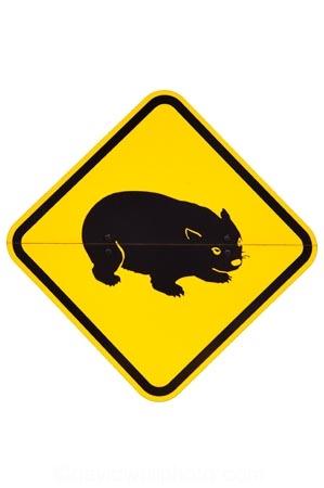 australasia;australia;australian;wombat;waombat-Warning-Sign;nature;Road;road-sign;road-signs;road_sign;road_signs;roads;roadsign;roadsigns;sign;signs;symbol;symbols;tranportation;transport;travel;warn;warning;wildlife;yellow-black;cutout