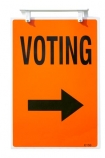 election;elections;electoral;New-Zealand;NZ;orange;political;politics;polling;booth;sign;vote;voting;cutout;cut;out