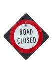 closed;road;warning;sign;cutout;cut;out