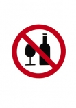 No;Warning;sign;red;black;alcohol;glass;bottle;bottles;cutout;cut;out